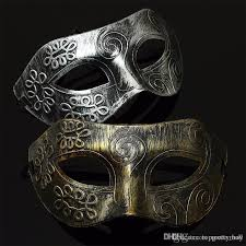 mens venetian mask retro men burnished antique silver gold venetian mardi
