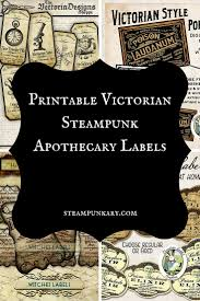 halloween jar labels victorian steampunk apothecary labels
