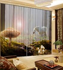 3d Home Decor by Online Get Cheap Horse Window Curtains Aliexpress Com Alibaba Group
