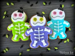 easy halloween skeleton cookies melissa joy cookies