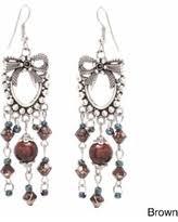 Black Bead Earrings Bronze Chandelier Amazing Deal On Gem Avenue Handmade Chandelier Czech Seed Black