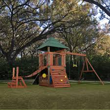 Sears Backyard Playsets Shop Swing N Slide Sherwood Tower Residential Wood Playset At