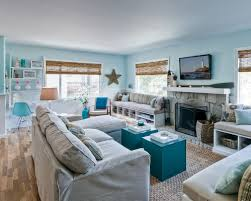 blue livingroom 20 beautiful beach house living room ideas