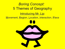 5 themes of geography acronym non linguistic pp