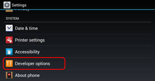 android settings android developer options is missing from settings