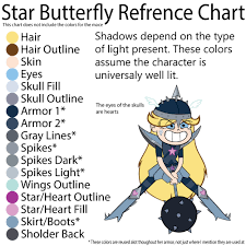 star butterfly color palette 3 reference chart by djtreatx on