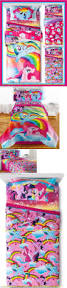 kids at home my little pony rainbow bed in a bag bedding w