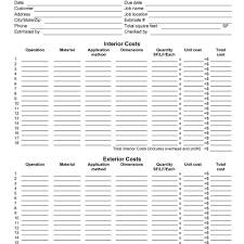 software project cost estimation template and software cost