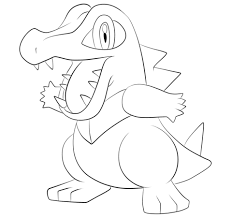 pokemon coloring pages totodile totodile coloring page free printable coloring pages