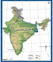 States Of India Map by Topographic Information Of Ganga Basin