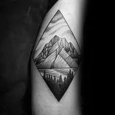 50 geometric mountain tattoo designs for men geometry ink ideas