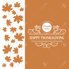 image happy thanksgiving vector illustration of happy thanksgiving maple leaf vintage