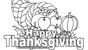 coloring pages pretty thanks giving drawing thanksgiving