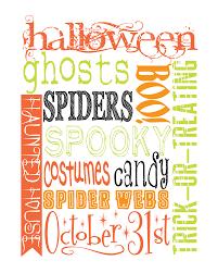 Printable Halloween Bingo by We Heart Parties Free Printables Bright Halloween Party Free