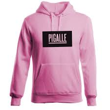 paris france street fashion brand cotton long sleeves pink pigalle