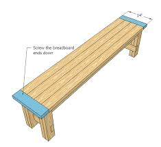 Outdoor Table Plans Free by Easy To Build Farmhouse Bench Free And Easy Diy Project And