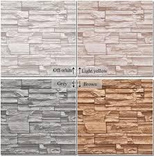 wholesale vinyl modern vintage 3d effect imitation stone brick