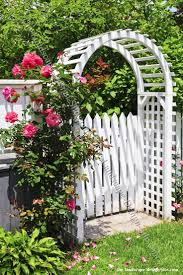 201 best garden fences gates and arbors images on pinterest