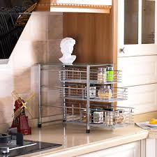 sink kitchen cabinet organizer details about easy 3 tier spice cabinet organizer glass drawer sink kitchen chrome