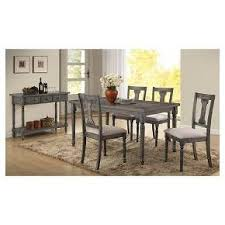 acme wallace dining table weathered blue washed wallace side dining chair set of 2 weathered blue washed acme