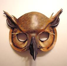 owl mask leather horned owl mask 1 by teonova on deviantart