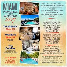 miami memorial day weekend 2017 hotel packages tickets thu may