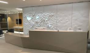 How Thick Is Corian Corian 3d Map Art Installation Squirrel Fixings