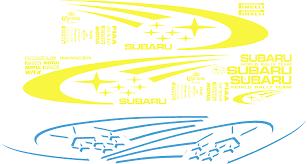 subaru wrx decal subaru impreza wrc vinyl 2 colour decal sticker kit in any