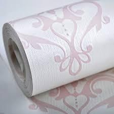 Purple Damask Wallpaper by Aliexpress Com Buy Textured Damask Wallpaper Pink White Silk