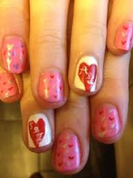 entry valentine u0027s nail art u2013 love u0027s hearts on pink nail art