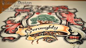 custom coat of arms tattoo design speed drawing youtube
