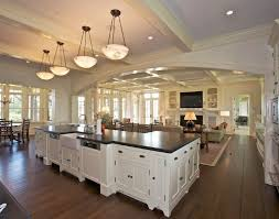 houses with open floor plans open floor plan living room and kitchen prepossessing lovable