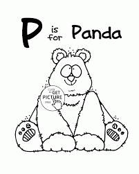 letter p alphabet coloring pages for kids letter p words
