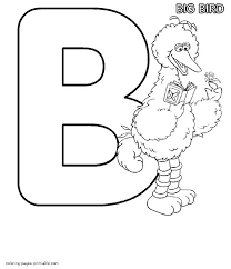 big bird and the letter b seasame street coloring pages