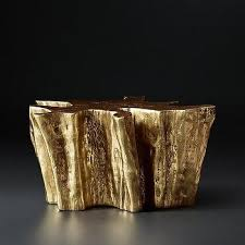 Tree Stump Nightstand Youati Gold Tree Trunk End Table