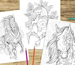 love animals horse coloring books love