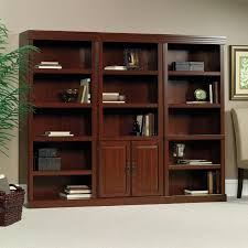 Sauder 4 Shelf Bookcase Interior Shelf Bookcase Cherry Heritage Hill Library With Doors