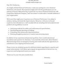 chemistry cover letter cover letter for summer internship