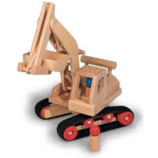 wooden toys fagus excavator wooden toy truck