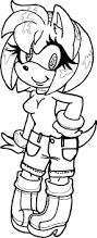 amy rose short dress coloring page wecoloringpage