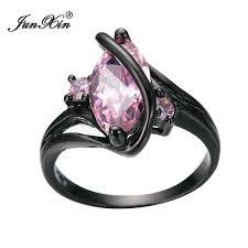 Black And Pink Wedding Rings by New Summer Fashion Oval Crossed Pink Sapphire Female Ring Black