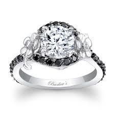 flower engagement rings barkev s flower engagement ring with black diamonds 7936lbk