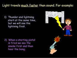 which travels faster light or sound images Light and sound jpg