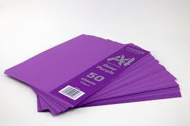 Deep Purple Color Craft Uk Colour Vision 50 Deep Purple Coloured A4 Sheets 160gsm