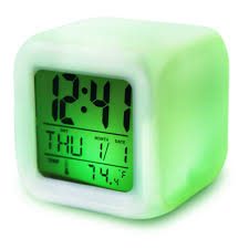 modern digital clock keep track of time with these modern digital
