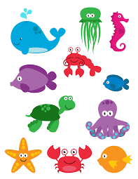 printable printable sea creatures in exterior free coloring kids