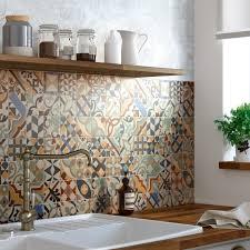credence cuisine leroy merlin une crédence authentique avec la mosaïque en carreaux de ciment