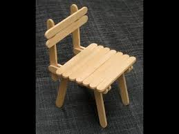 How To Build A Simple Rocking Chair Diy Popsicle Stick Chair Craft For Kid Youtube