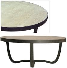 round metal and stone coffee table coffee u0026 cocktail tables