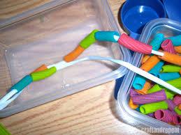 stringing pasta craftandrepeat